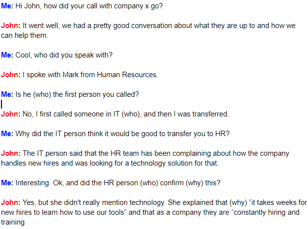 Phone interview script