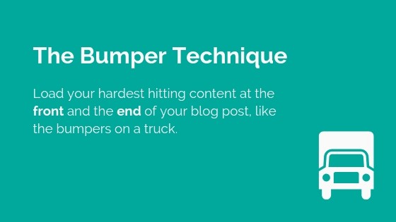 bumper technique