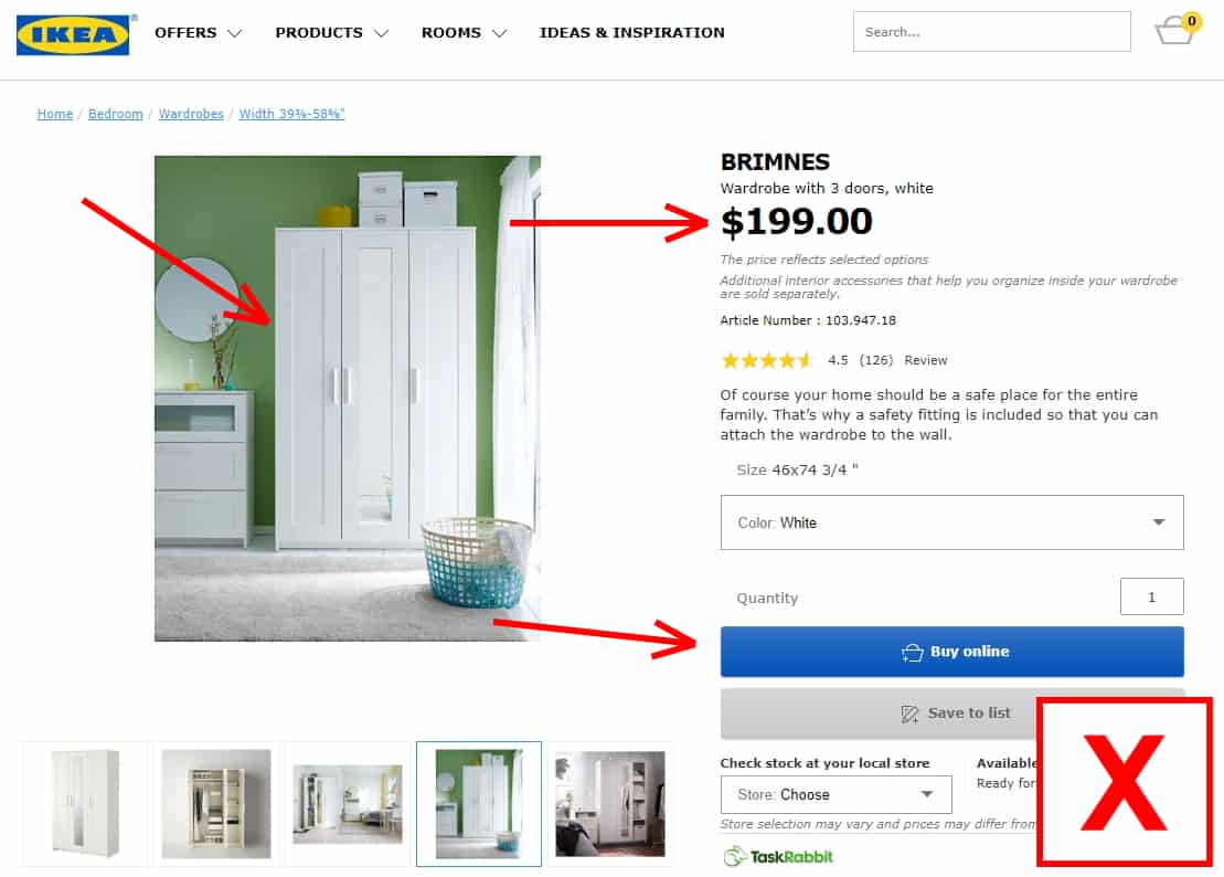 ;Bad sign: If you are redirected to a product page (displays a page with a product, price, and a buy now button).