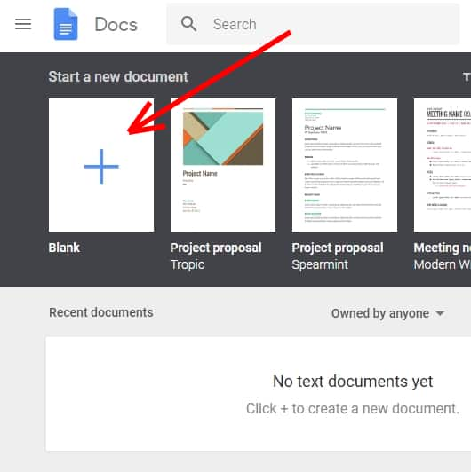 Create your list in a Google Doc;